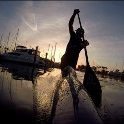 Drew Story paddling